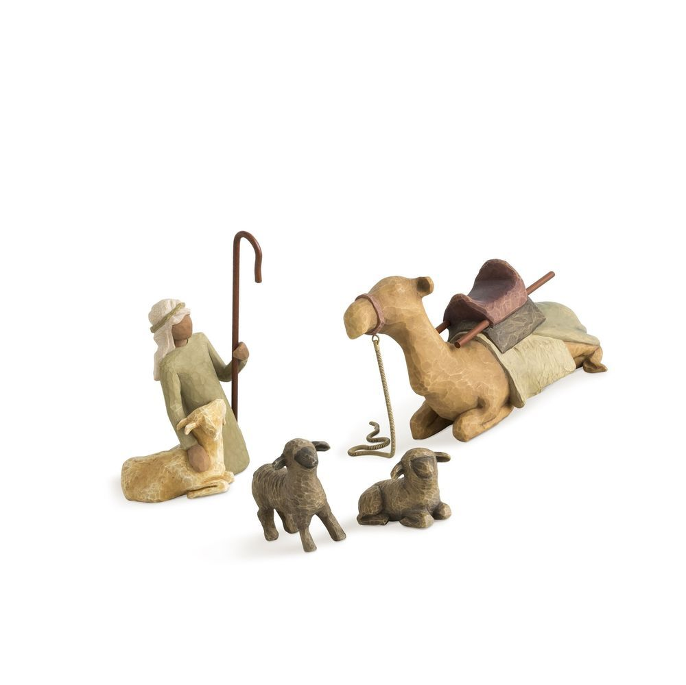 Willow Tree Hand-painted Sculpted Figures Shepherd And