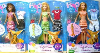 H2O DELUXE JUST ADD WATER MERMAID DOLLS H20 VERY RARE Charm For