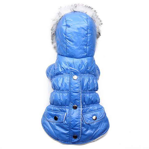 para mascotas ropa para perros con capucha azul de invierno ...