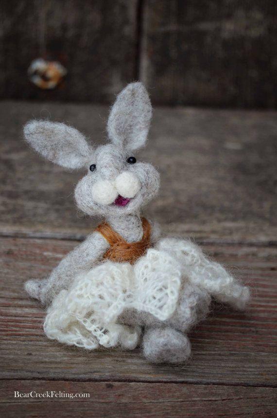Needle Felted Bunny Rabbit by Teresa Perleberg