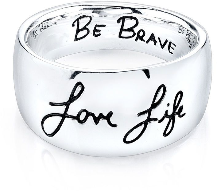 Fine Jewelry Inspired Moments Sterling Silver Love Life Be Brave