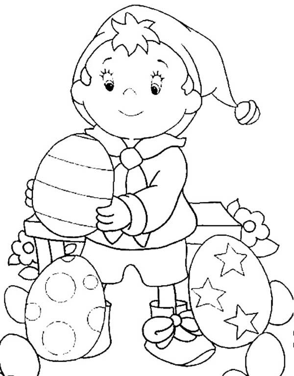 Noddy Make Beautiful Easter Eggs Coloring Pages Bulk Color