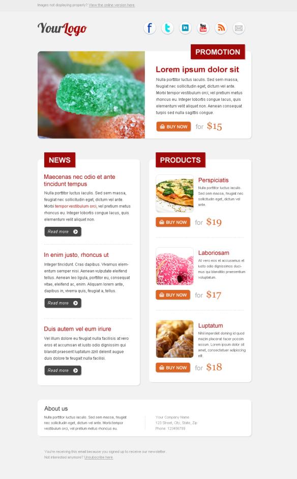 Descarga Gratis Plantilla Newsletter tipo Producto Blog   Descargas ...