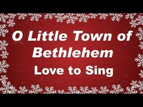 O Little Town of Bethlehem with Lyrics Christmas Carol Sung by a Kids Choir | Christmas songs ...