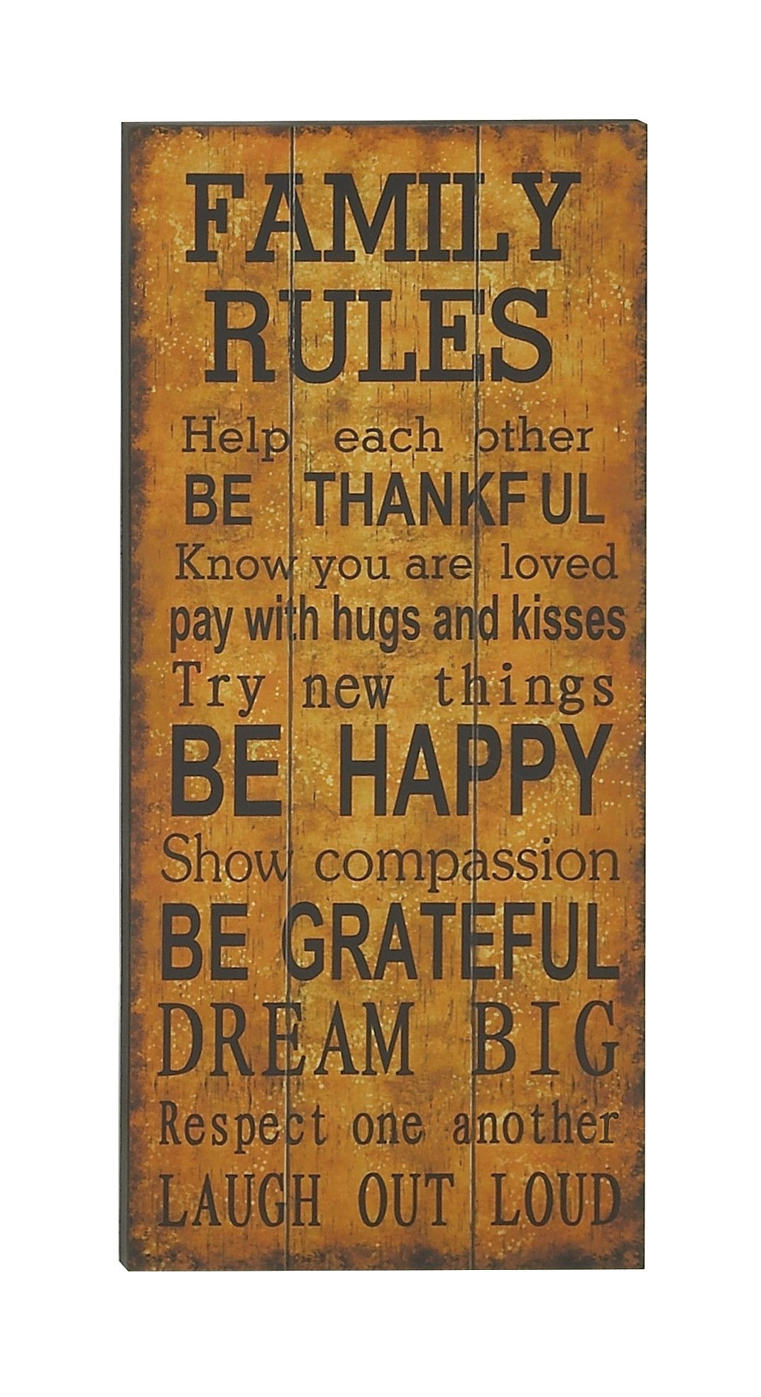 Word Wall Decor Plaques Signs Captivating Family Rules Wood Paneled Quoted Wall Plaque  Products Inspiration