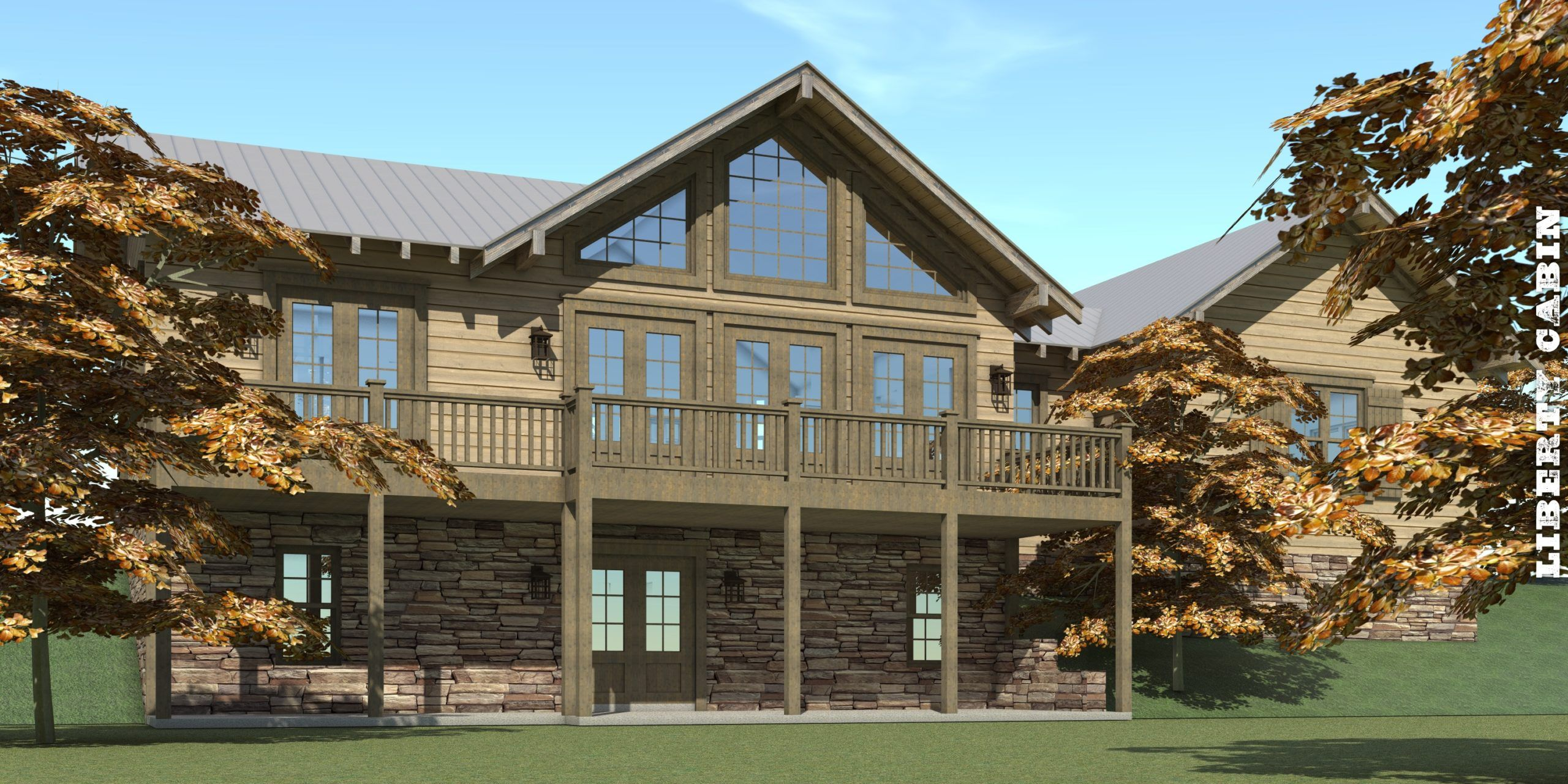 Rustic 3 Bedroom Home with Walkout Basement Tyree House Plans