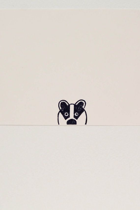 Badger stamp, custom name stamp, animal stamps, small stamps, cute stationary, best friend gift #rubberstamping