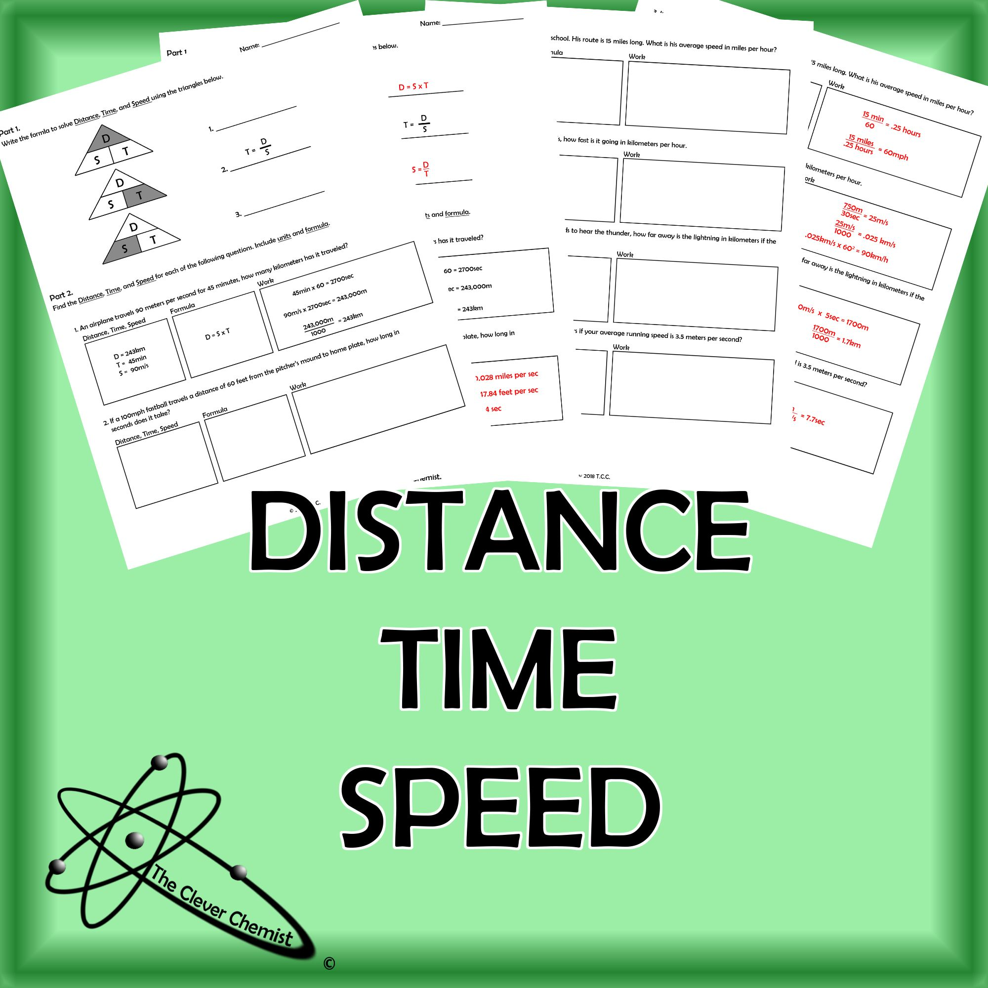 Distance Time And Speed Worksheets