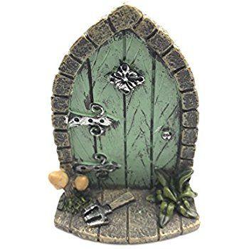 Décoration miniature originale et sympa en forme de porte de lutins fée elfes pour