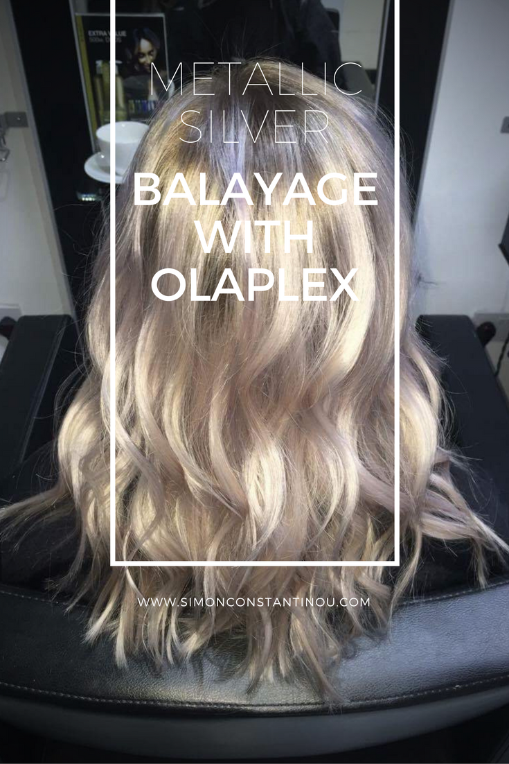 LOVE this! Chelsea created this amazing colour by keeping the root as close to this lady's natural colour as possible, a subtle balayage to blend, and then toned with 'metallic silver' elumen cocktail. Extra shine was added with a post-colour Olaplex treatment. Simply beautiful! ✨  If you would like a complimentary colour consultation, call 02920461191 O.Constantinou & Sons. 99 Crwys Rd, Cardiff. #simonconstantinou #balayage #hairsaloncardiff #rootfade #olaplex #goldwell #silverhair