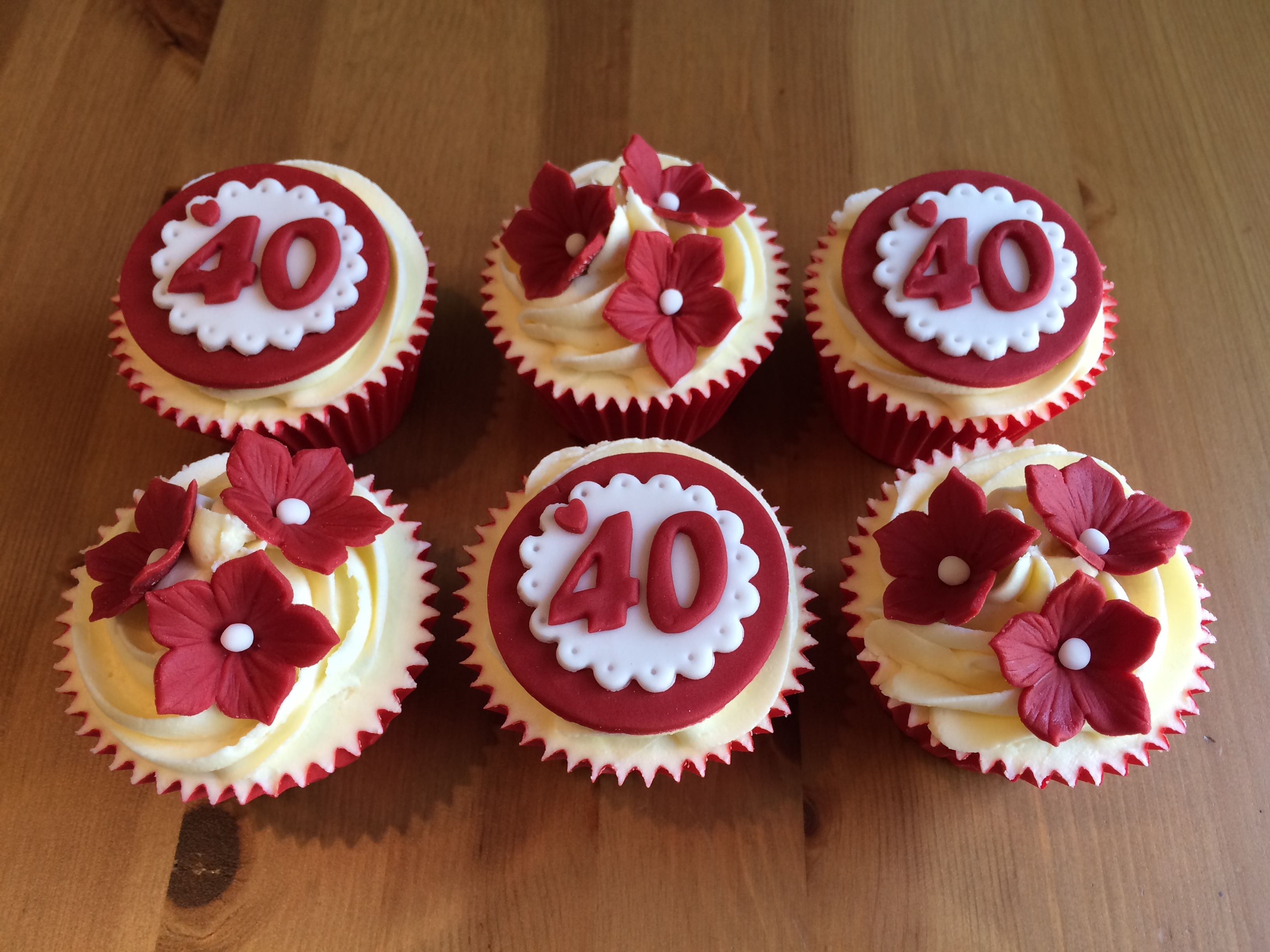 Ruby Wedding Cupcakes 40 Years Together