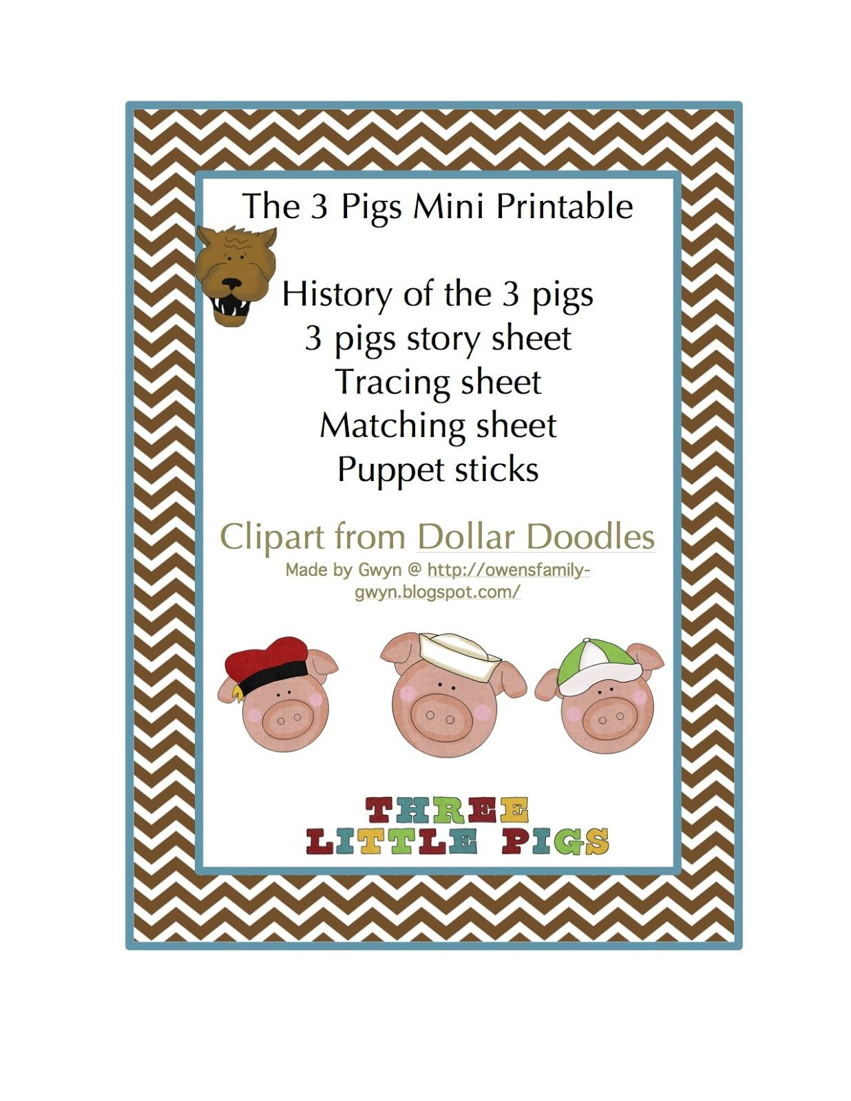 Preschool Printables The 3 Pigs Mini Printable