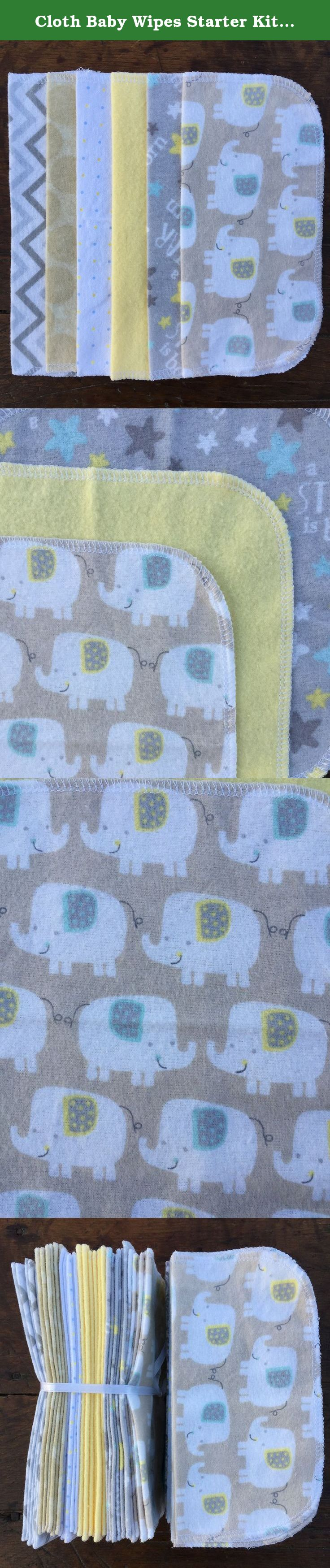 Cloth Baby Wipes Starter Kit. Set of 3 Dozen Wipes.C. Reusable Cloth Wipes. Baby Shower Gift. Eco Friendly. Reusable Cloth Napkin. Reusable Dryer Sheets. Taupe Elephants. These 8 inch square cloth wipes are made of one layer of super soft 100% cotton flannel. Whether you use these to clean baby's hands, face, or bum, you'll love knowing that they are gentle on your little one's skin. As an added bonus, using reusable wipes means lowering your carbon footprint! Set of 36 wipes. This is a...