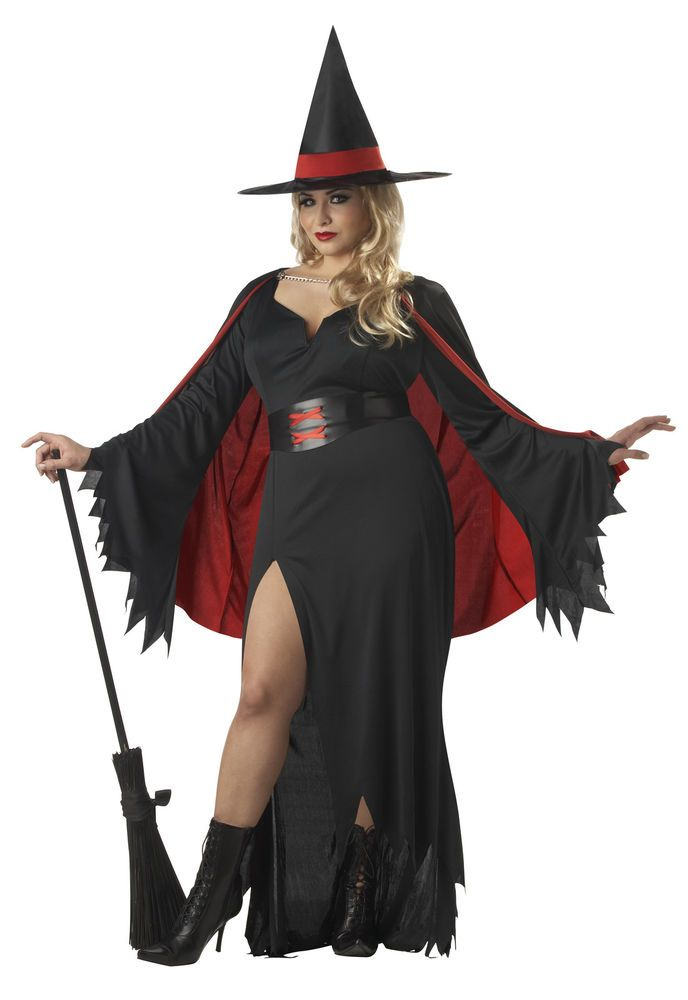 Scarlet Witch Plus Size Fancy Dress Halloween Costume Adult Ladies