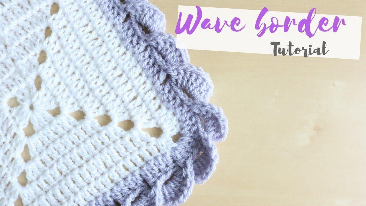 CROCHET: Wave border tutorial | Bella Coco - YouTube ...