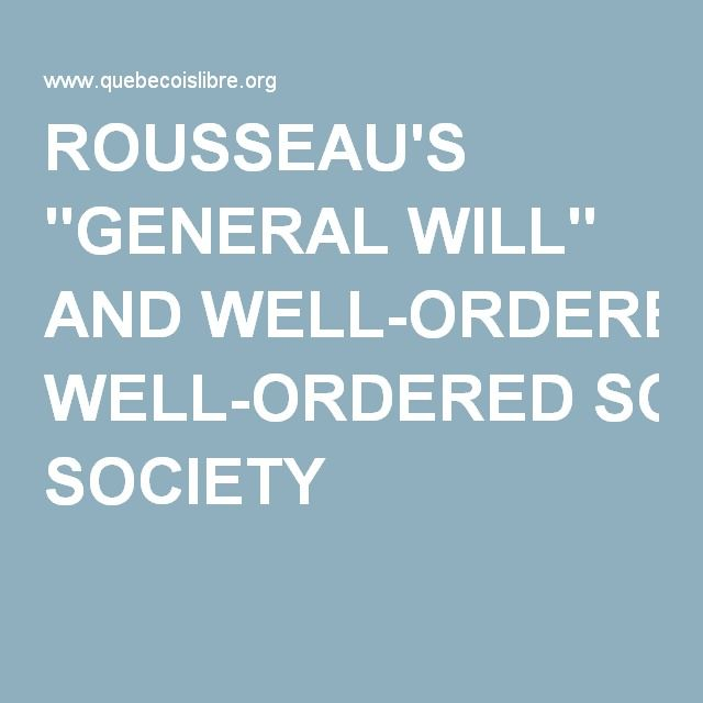 rousseau concept of general will