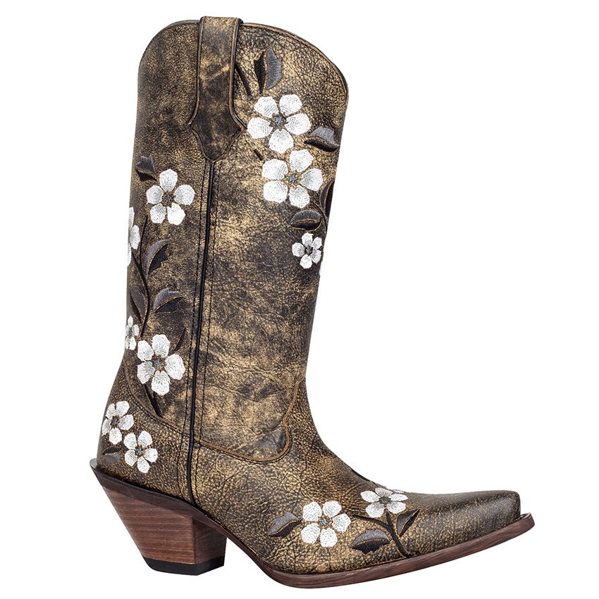 Women's Floral Bouquet Western Boot
