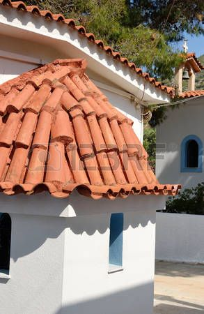 Greek Roof Tiles Stock Photos Royalty Free Business Images