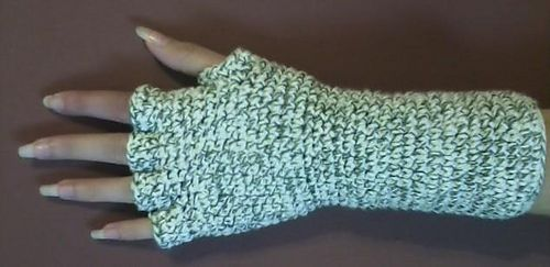 Striped Gloves With Half Fingers Pattern By Jessica Evans Crochet