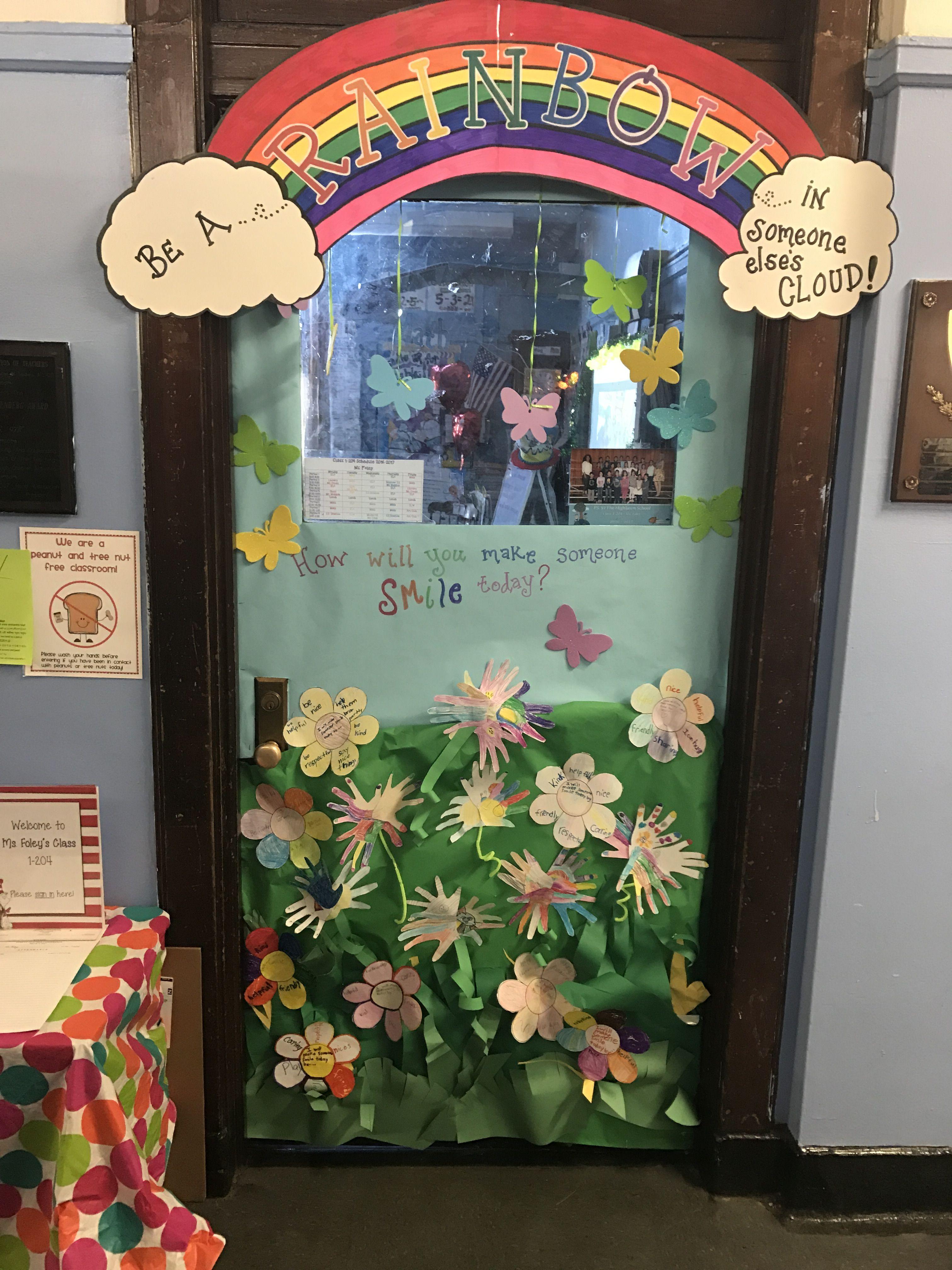 my classroom spring door decoration spreading happiness rh pinterest com
