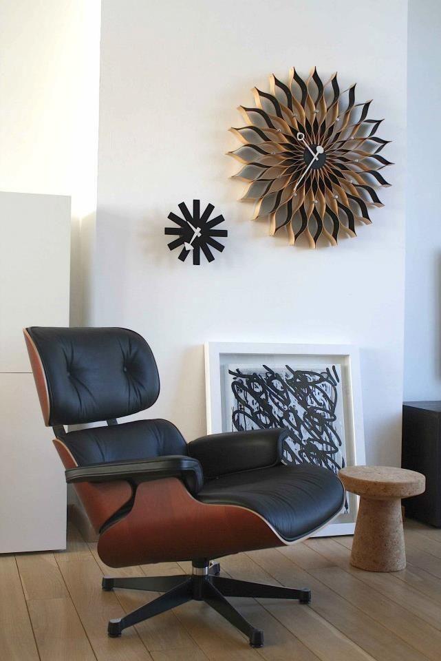 Perfect Horloges Murales Asterisk Et Sunflower Mid Century Nelson   Wall Clocks Images