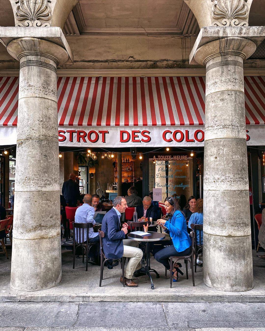 cafe bistrot des colonnes resto paris