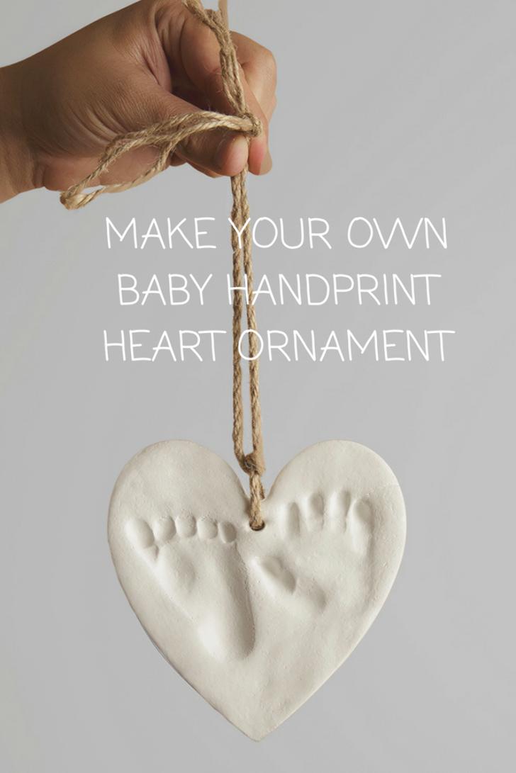 Our Bubzi Co Baby Handprint Footprint Clay Ornament Keepsake Kit Comes With Both Heart Circle Shape Molds Baby Handprint Clay Ornaments Baby Footprints