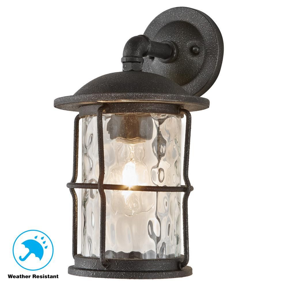 Home Decorators Collection 1 Light Gilded Iron 13 5 In Outdoor
