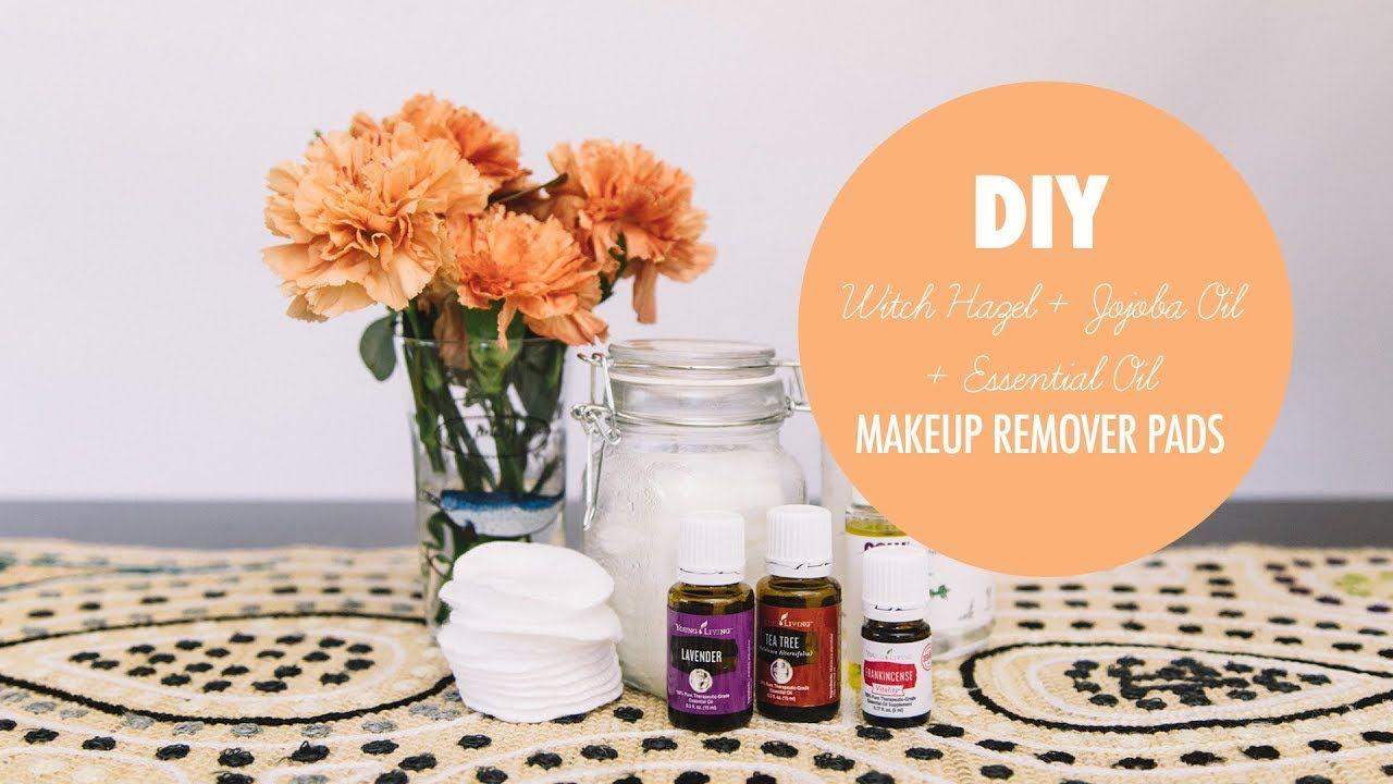 DIY Essential Oil & Jojoba Oil & Witch Hazel Makeup