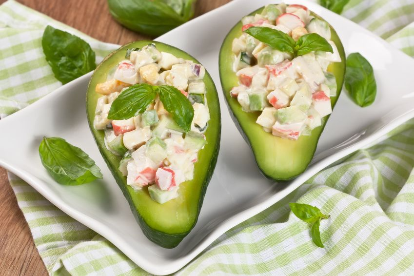 Avocat Farci Au Surimi Et Aux Capres Recette Cuisine Salad