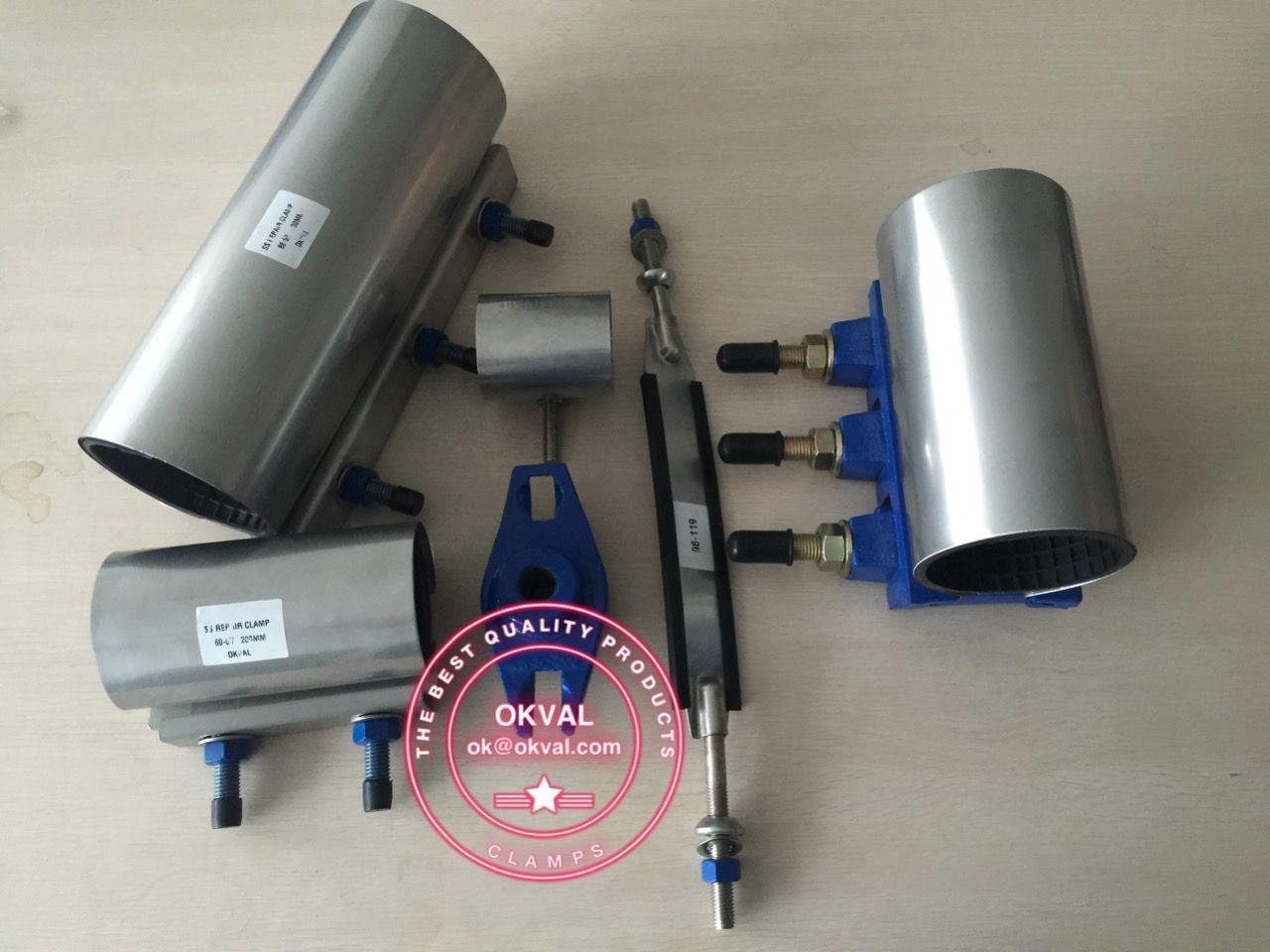 Repair clamp #okval com Pipe repair clamps Stainless steel