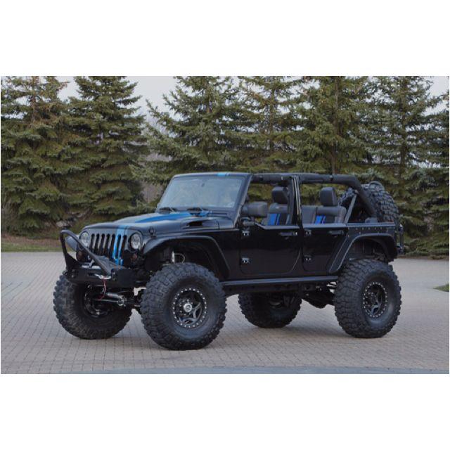 black and blue racing stripe jeep wrangler unlimited w big black rh pinterest com