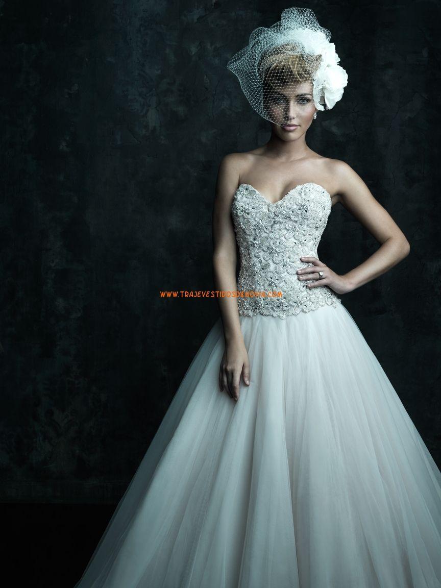 Vestidos de novia escote corazon evase princesas   Vestidos de Novia ...
