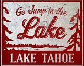 Go Jump In the Lake Higgins Lake 11x12 by GoJumpInTheLake on Etsy