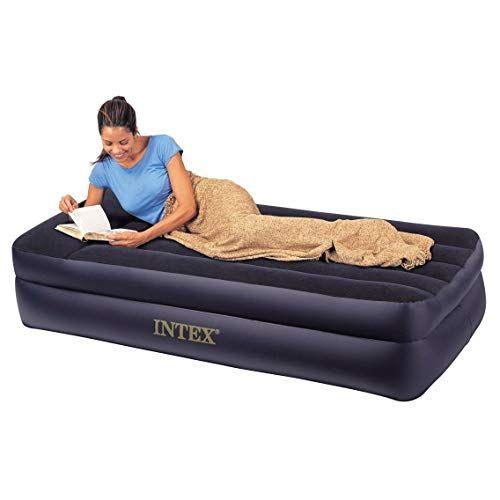 starsun depot twin pillow rest raised air mattress with built in air rh pinterest com