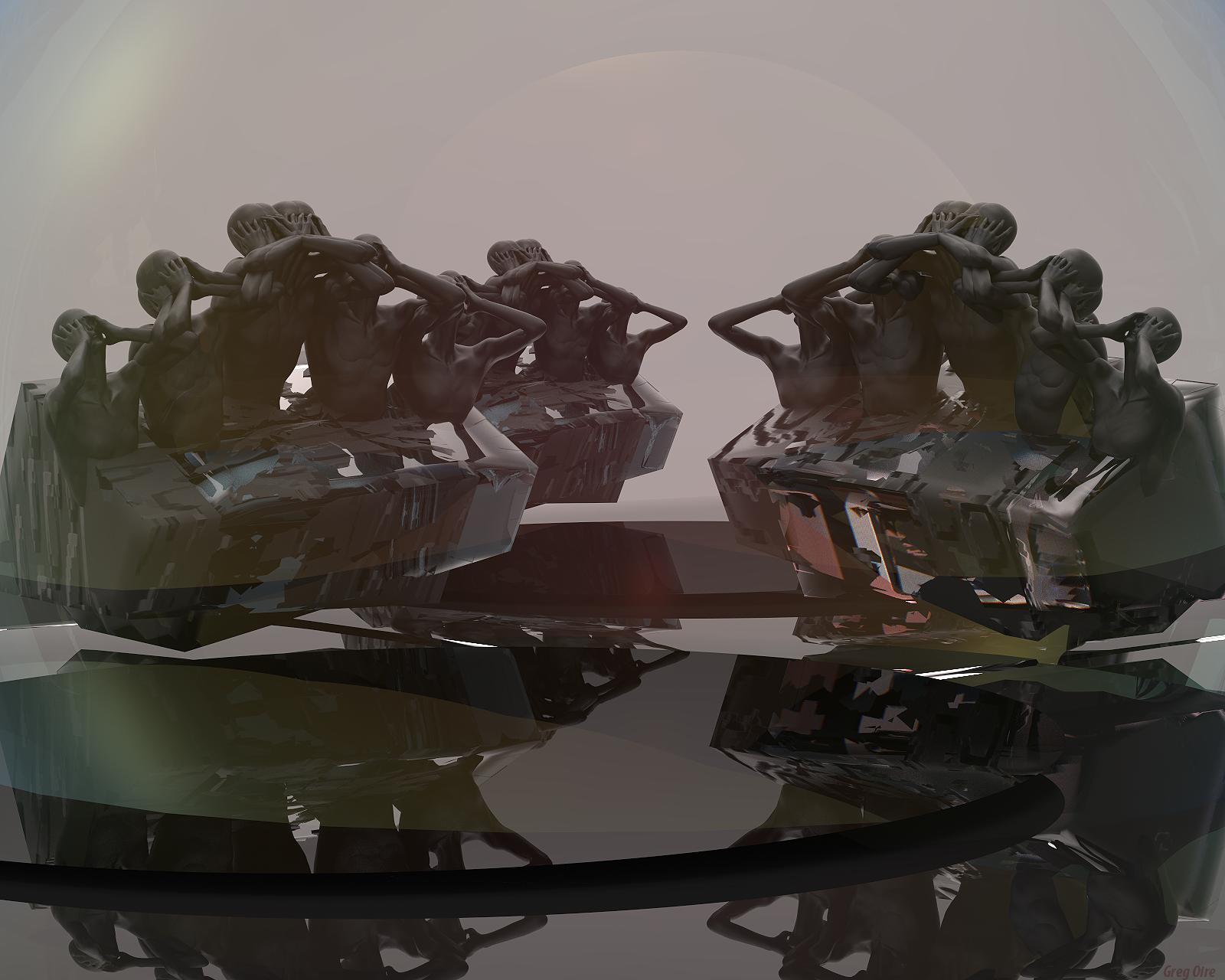 Digital 3d sculpted Art by Greg Oire