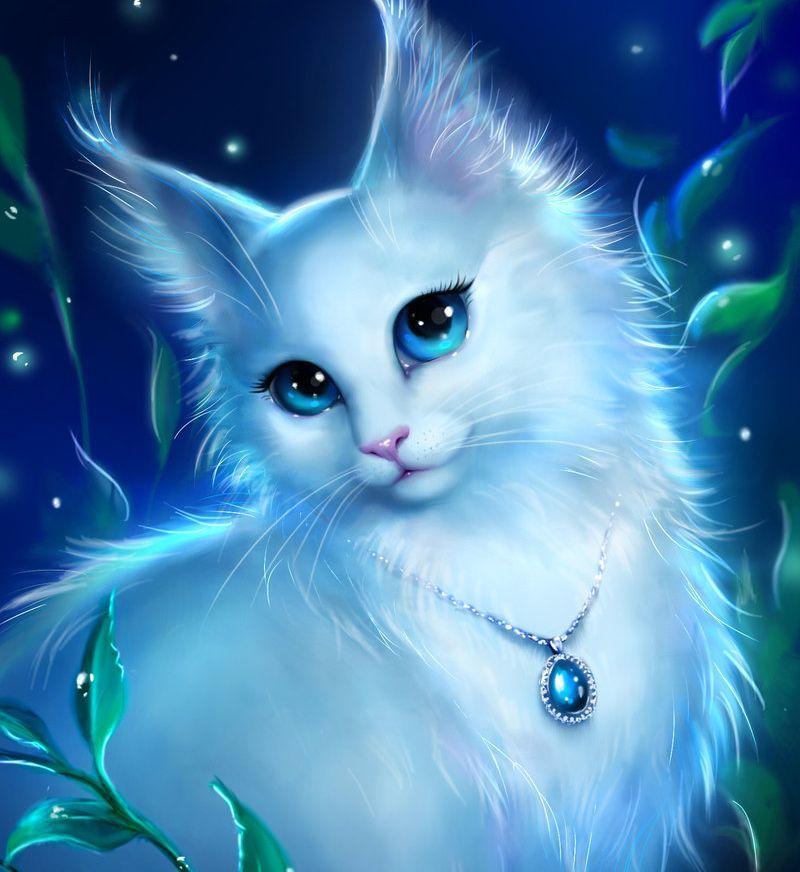 Pin By April Jli On Sohranenki Anime Animals Cute Animal Drawings Cute Drawings Anime white cat wallpaper
