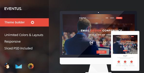 Eventus EventConference Email Template Httpsthemekeepercom - Buy email templates