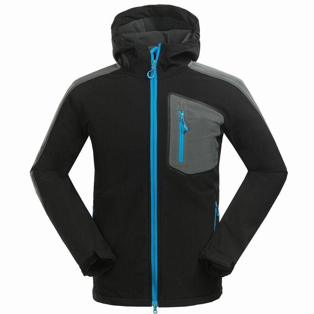 man hiking jacket fleece camping riding outdoor sport wear male
