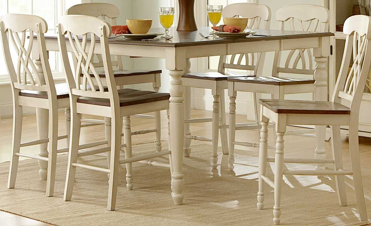 homelegance 1393w 36 ohana counter height table white products rh pinterest com