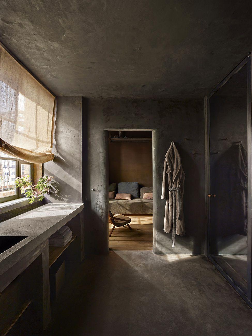 raw industrial penthouse in dark earthy shades digsdigs rh pinterest com