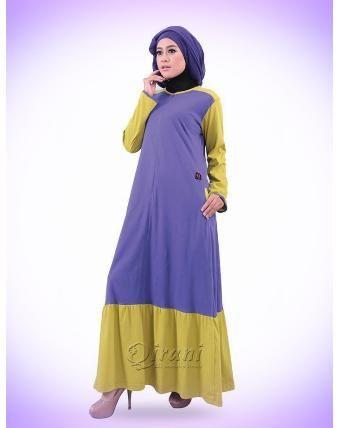 Beli Baju Dress Wanita Gamis Qirani Dewasa 186 Ungu Dari Aprilia