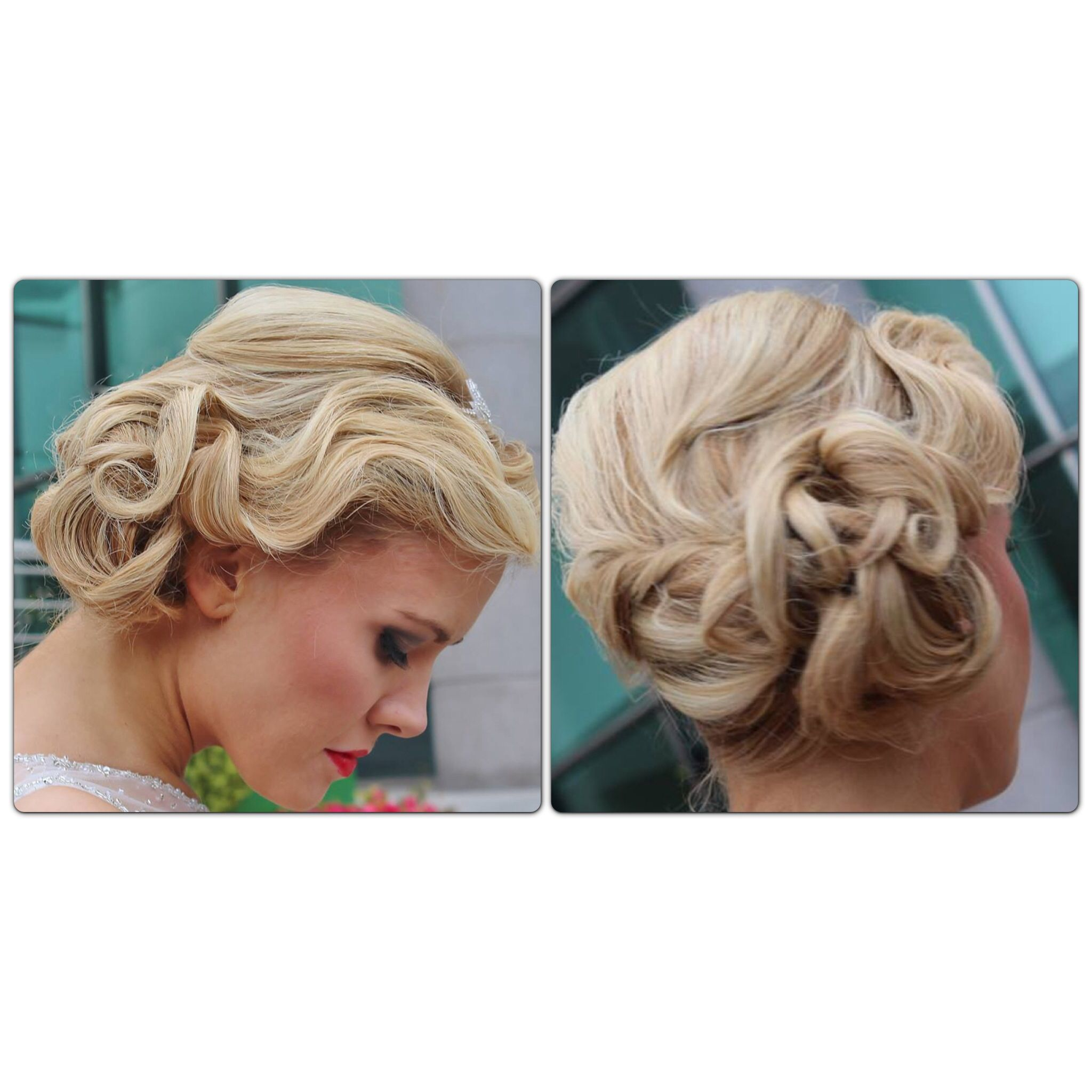 Wedding Hairstyle Prices: Vintage Wedding Hair Updo Lox Side Style Blonde Finger