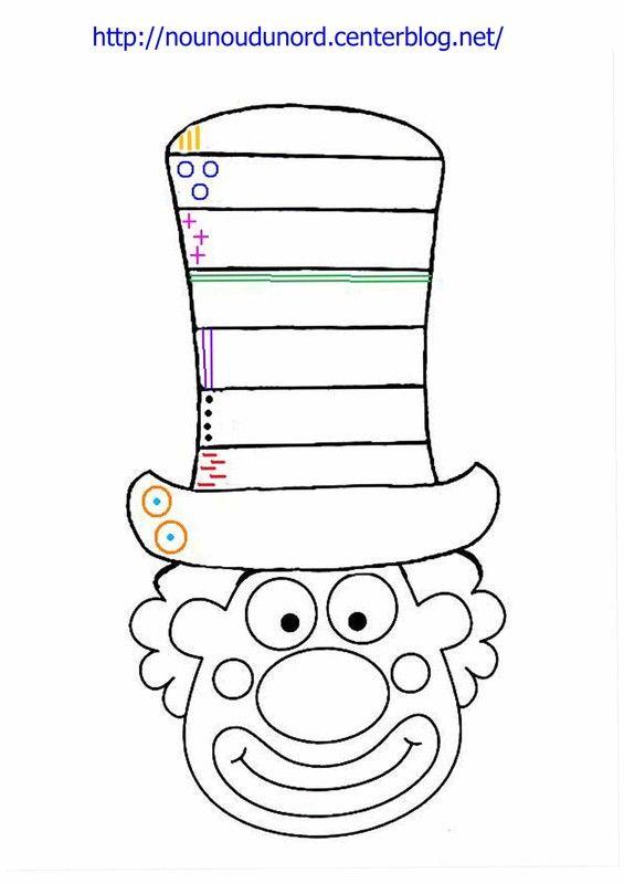 Coloriage Clown Hiver.Coloriage Clown Excercice Sur Le Chapeau A Imprimer Hiver