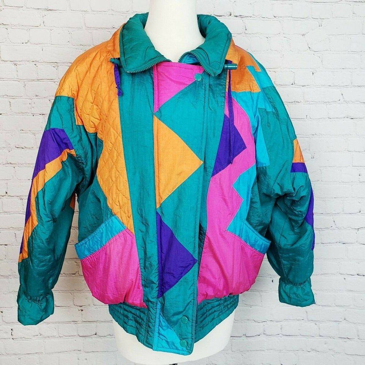 Vintage Izzi Ski Jacket 80s Retro On Mercari Ski Jacket Color Block Coats Jackets [ 1200 x 1200 Pixel ]