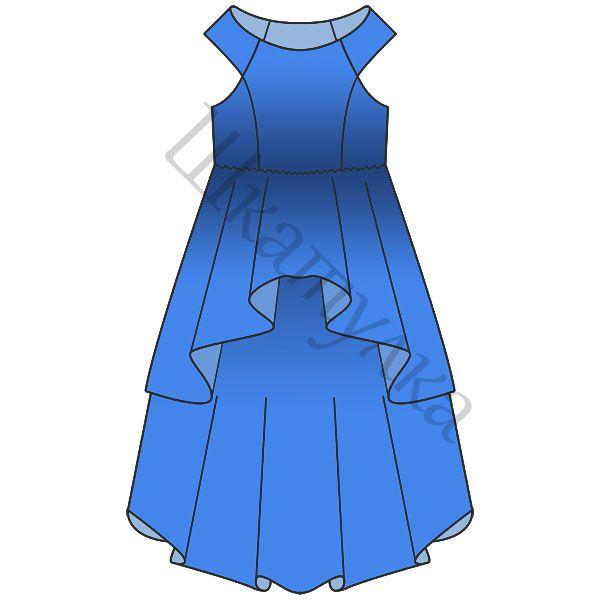 Пошив платья выкройки для девочки