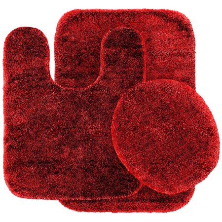Free Shipping Buy 3 Pc Red Bathroom Set Bath Mat Rug Contour And