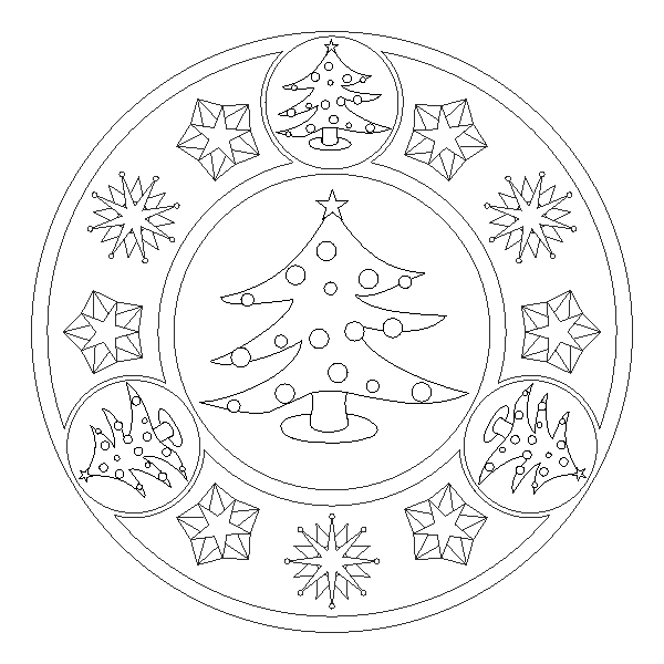 Mandala de árbol de navidad | nadal | Pinterest | Mandala, Christmas ...