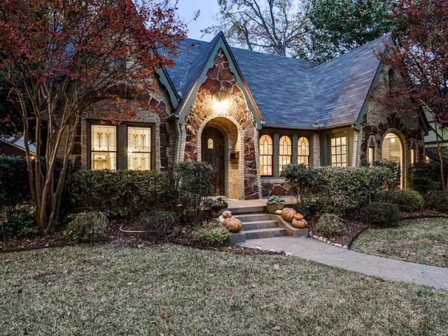 Adorable tudor revival cottage in dallas tx built 1930 for Texas stone house plans