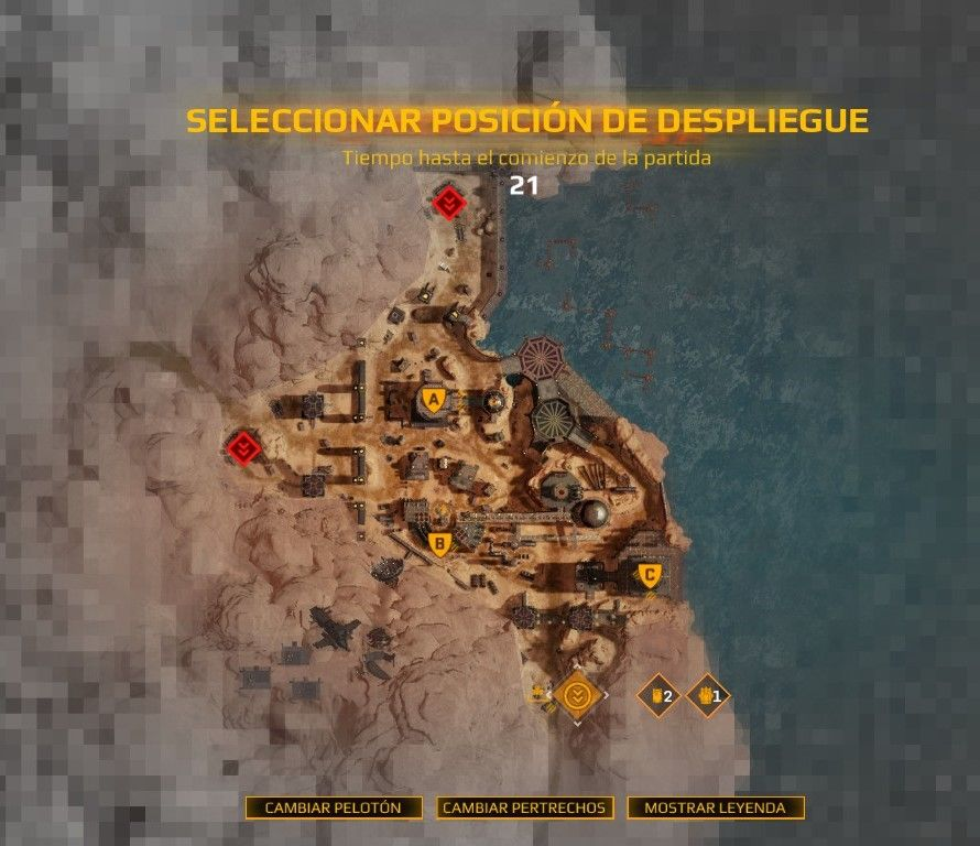 Are Desert themed maps placed in the